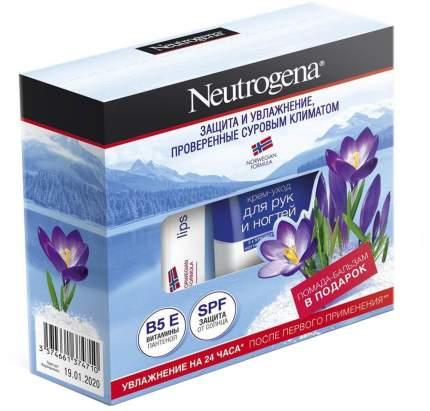Подарочный набор Neutrogena Крем-уход для рук и ногтей + Бальзам-помада