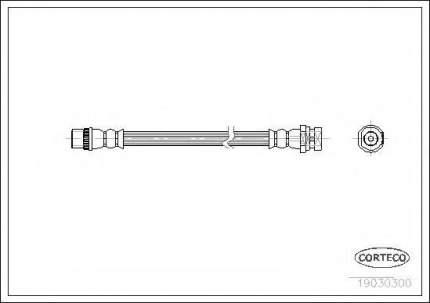 Шланг тормозной системы Corteco 19030300