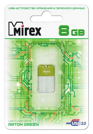 USB-флешка MIREX Arton 8GB White/Green (13600-FMUAGR08)