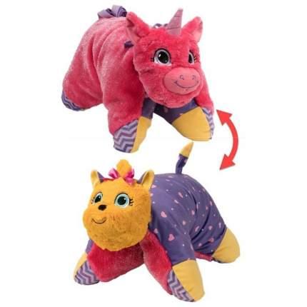 Подушка-игрушка Вывернушка 1Toy 2 в 1, Лавандовый Единорог-Щенок Йорк Т12045