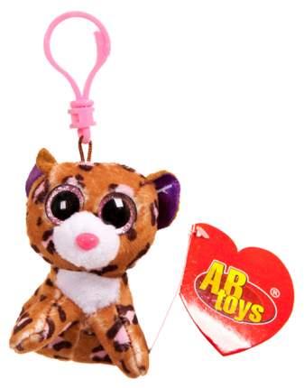 Мягкая игрушка ABtoys Леопард коричневый, на брелке 8 см