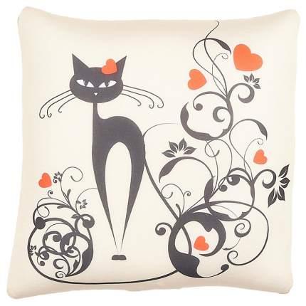 Мягкая подушка Оранжевый кот Антистрессовая завитки