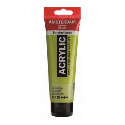 Акриловая краска Royal Talens Amsterdam №621 зеленый оливковый светлый 120 мл