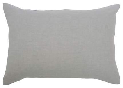 Наволочка изо льна серого цвета Essential 50х70