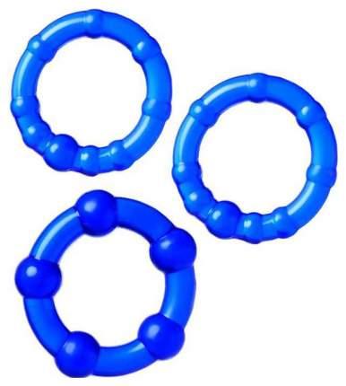 Набор из 3 синих эрекционных колец A-toys