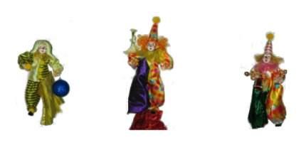 Snowmen Новогоднее украшение клоунесса 20 см Snowmen Е80154
