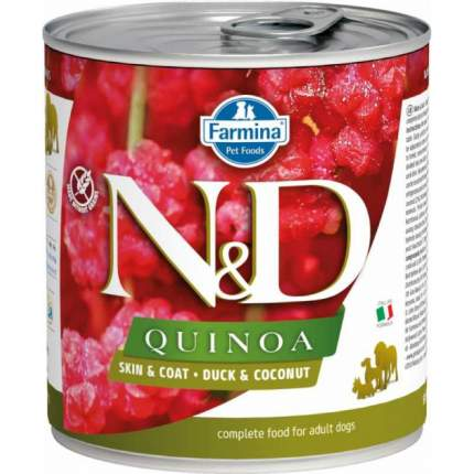 Влажный корм для собак Farmina N&D Quinoa, утка и кокос, 285г