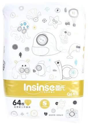 Подгузники для новорожденных Insinse Q6 (3-6кг) 64 шт супертонкие S золотые (YS1664)