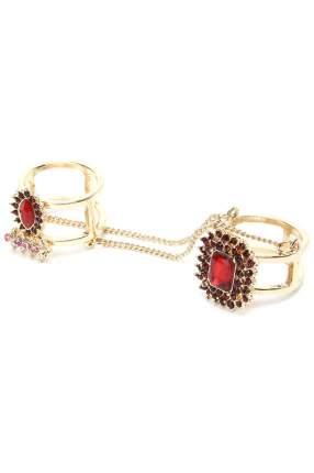 Кольцо женское Diva 10756607 красное/золотистое