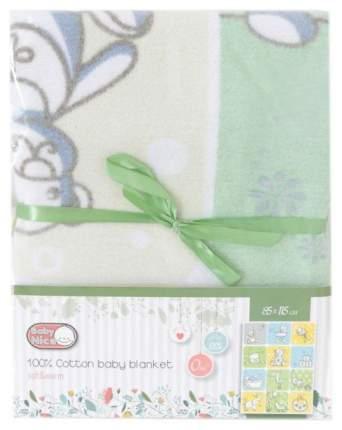 """Одеяло байковое """"Веселые картинки"""" (85х115 см, цвет: зеленый)"""