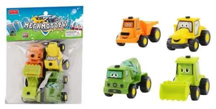 Машинки инерционные Junfa toys Мегамоторы набор 4 штуки 121929-TN