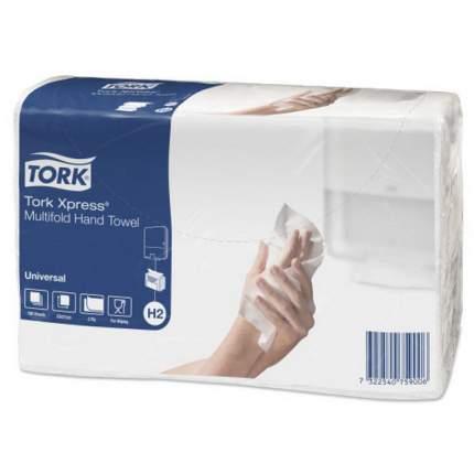 Полотенца H2 Tork Universal сложения Interfold 190 листов 21*23.4 см 2 слоя натур.цвета