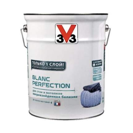 Краска V33 для стен и потолка Blanc Perfection глубокоматовая 6 л