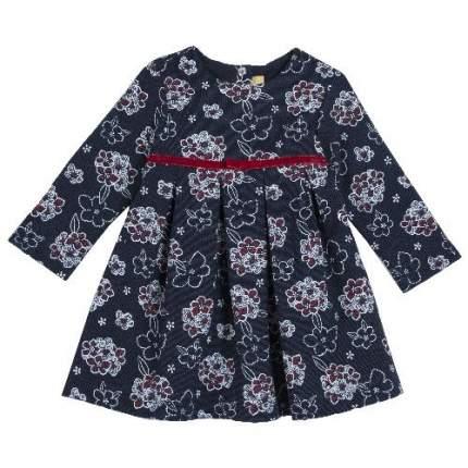 Платье детское Chicco длинный рукав р. 104 цв.синий