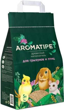 Наполнитель для грызунов и птиц AromatiPet, древесный, 5л, 3кг