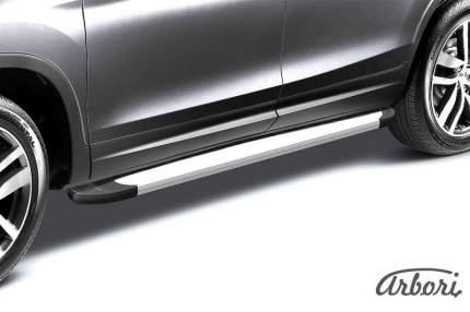 "Комплект алюминиевых порогов Arbori ""Optima Silver"" длина 1250мм без крепежа"