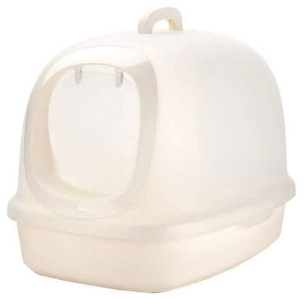 Туалет для кошек Naturel N1 МАК41/42, прямоугольный, белый, 62х46х46 см