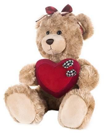 Мягкая игрушка Мишка Моника с сердцем и бантиком на голове, 25 см, арт. MT-GU092018-1-25