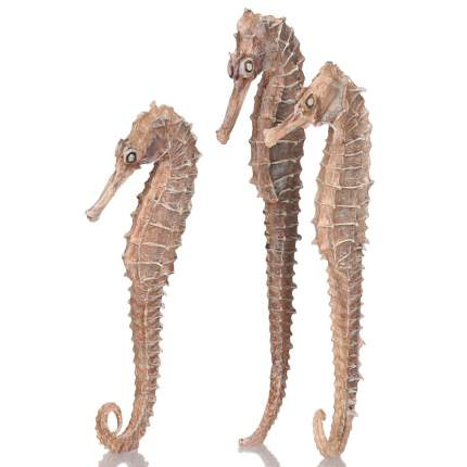 Набор из 3-х морских коньков seahorse 3 pack natural