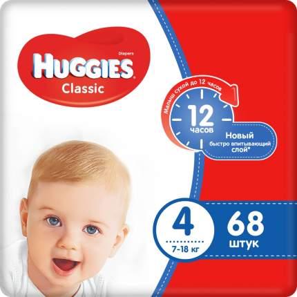 Подгузники Huggies Classic 4 (7-18 кг), 68 шт.