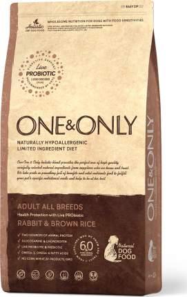 Сухой корм для соба ONE&ONLY Adult All Breeds Rabbit&Rice, все породы, кролик с рисом, 3кг