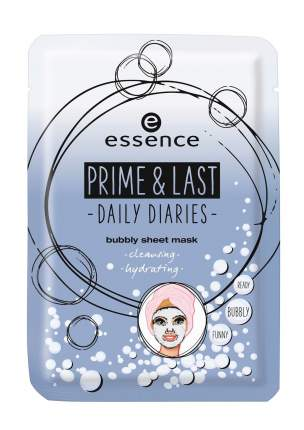 Маска для лица Essence Prime & Last Daily Diaries Bubbly Sheet Mask