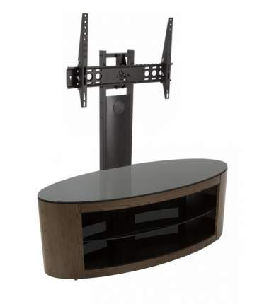 Тумба под телевизор приставная AVF FS 11 BUCXW + FL602 110х45х125 см, черный