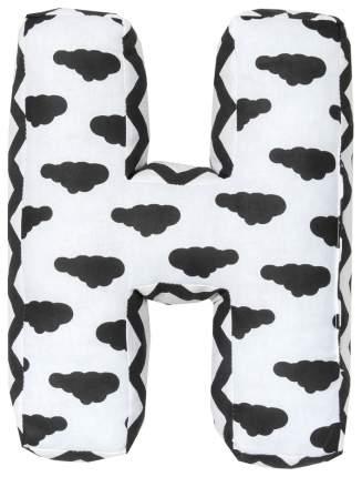 Подушка Крошка Я буква Н 35х31 см, белый