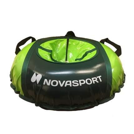 Тюбинг NovaSport 110 см без камеры CH040.110 темно-зеленый/темно-зеленый салатовый