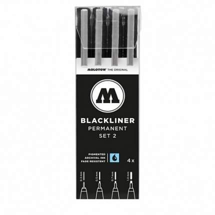 Набор линеров Molotow Blackliner Set 2