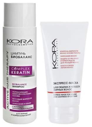 Набор средств для волос KORA Complex Keratin Биобаланс 250 мл +150 мл