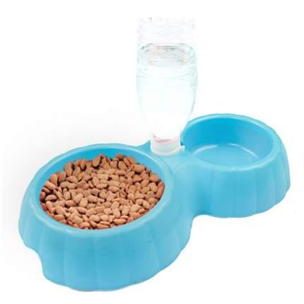 Миска для домашних животных Bobo, двойная с автопоением, синяя