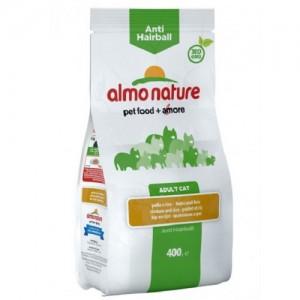 Сухой корм для кошек Almo Nature Adult Anti-Hairball, курица и рис, 0,4кг