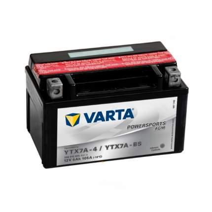 Аккумуляторная Батарея Рус 6ah 105a 151/88/94 Ytx7a-Bs Powersports Agm Moto Varta