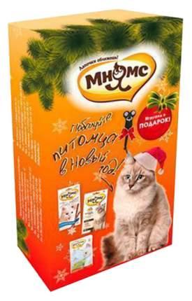 Влажный корм для кошек Мнямс Новогодний набор, говядина, рыба, 3шт, 200г