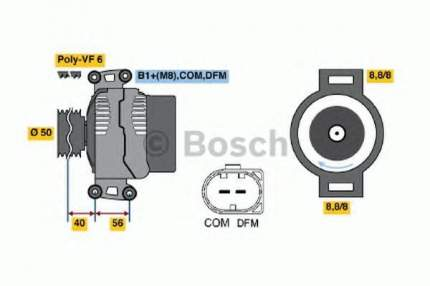 Генератор Bosch 0986047490