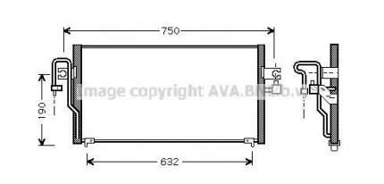 Радиатор кондиционера Ava DN5164