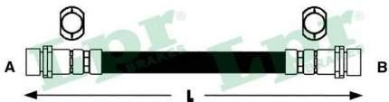Тормозной шланг Lpr 6T46786