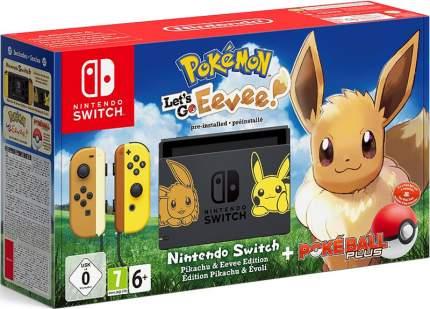 Портативная игровая консоль Nintendo Switch + Pokemon: Let's Go, Eevee!