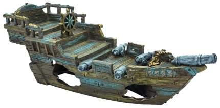 Декорация для аквариума Penn-Plax Корабль с пушками, пластик, 29,2х11,4х10,1 см