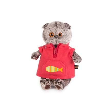 Мягкая игрушка BUDI BASA Кот Басик в красном флисовом жилете 25 см