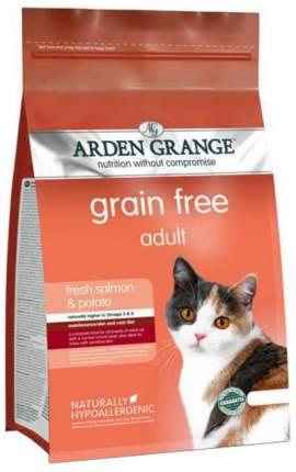 Сухой корм для кошек Arden Grange, беззерновой, лосось, картофель, 8кг