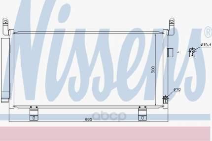 Радиатор кондиционера Nissens для Subaru Forester 2.0t 2012- 940437