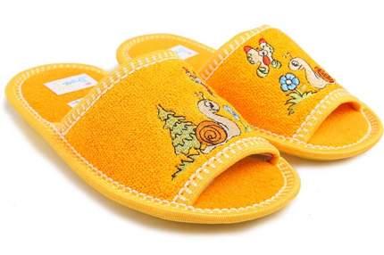 Тапочки Рапана детям желтые Улитка 33 размер