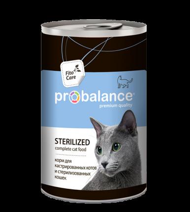 Консервы для кошек ProBalance Sterilized, с курицей, 415г