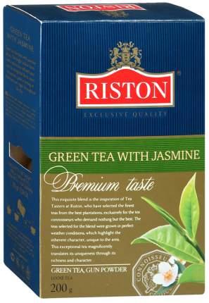 Чай Riston грин с жасмином зеленый с лепестками жасмина 200 г