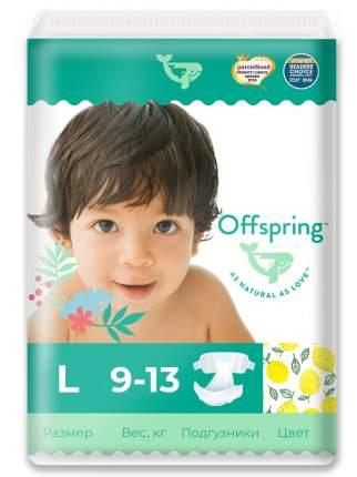 Подгузники Offspring L 9-13 кг. 36 шт. Лимоны
