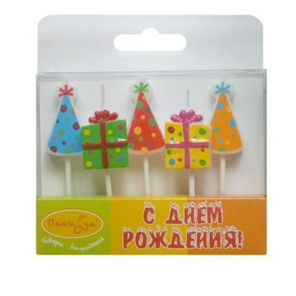 Свечи для торта Патибум Подарки колпачки 7 см