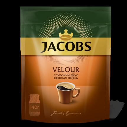 Кофе растворимый Якобс монарх велюр 140 г