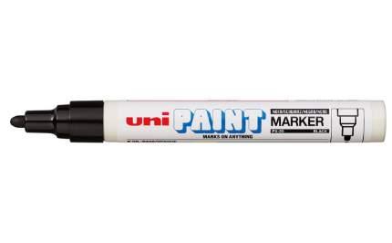 Маркер перманентный Uni Paint PX-20 2,2-2,8мм овальный (черный, 1 штука)